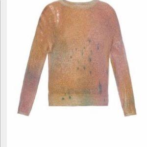 Raquel Allegra distresses sweater size small